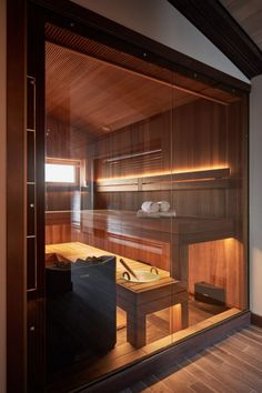 Diy Sauna, Home Spa Room, Spa Rooms, Sauna House, Sauna Room, Home Room Design, House Design, Garden Design, Steam Room Shower