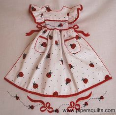 Ladybug little dress by pipersquilts, via Flickr