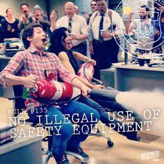 No illegal use ~ Brooklyn Nine-Nine Quotes ~ Season 1, Episode 1: Pilot, 2013 #amusementphile