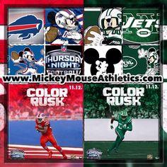 A little Thursday Night Fun, NFL Thursday Night Football, Buffalo Bills travel to New York Jets #mickeymouseathletics #disneyart #instadisney #instagood #waltdisney #disney #mickeymouse #donaldduck #disneyland #nflmemes #colorrush #buffalobills #bills #rexryan #newyorkjets #jets #espn #tnf #thursdaynightfootball #collage #nflmemes #disneymeme