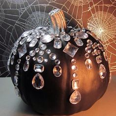 I think I like the blinged out pumpkins!  #halloween #weddings