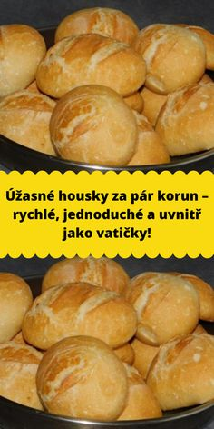 Bread Recipes, Cooking Recipes, Bread And Company, Czech Recipes, Simply Recipes, Bread And Pastries, What To Cook, Vegetarian Recipes, Food And Drink