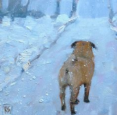 Pug Inch Oil Painting by Kelley MacDonald -- Kelley MacDonald Paintings I Love, Dog Paintings, Original Paintings, Pugs, Pug Art, Daily Painters, Paws And Claws, Bow Wow, Pug Love