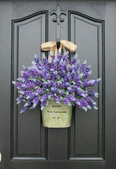 Lavender door hanger