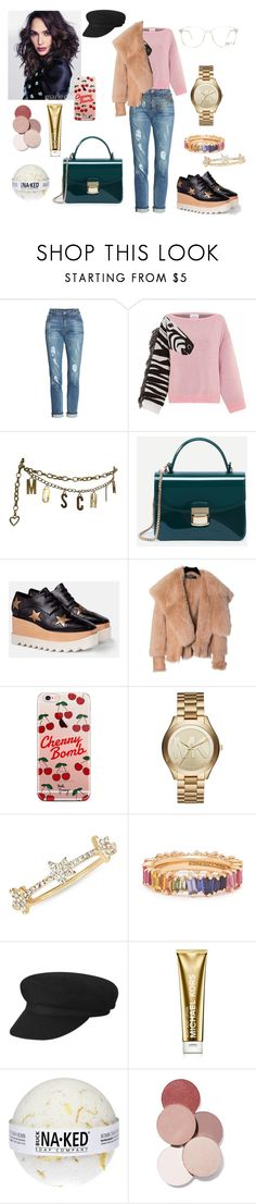 """""""Untitled #441"""" by gloriatovizi on Polyvore featuring KUT from the Kloth, Hayley Menzies, Moschino, STELLA McCARTNEY, Balmain, ETUÍ, Michael Kors, EF Collection and LunatiCK Cosmetic Labs"""