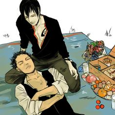 """CJ: """"So the beautiful Cassandra and I have been collaborating to create a calendar of the TMI/TID/TLH boys - Men of the Shadowhunter Universe, I guess - and while I don't know what we're going to do with it yet, here's Magnus and Alec as February 2014, celebrating Valentines Day."""""""