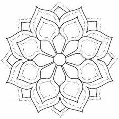 très beaux mandalas - Art and visual inspirations Mandala Design, Mandala Dots, Mandala Pattern, Mosaic Patterns, Embroidery Patterns, Simple Mandala, Mandala Drawing, Mandala Painting, Simple Art Designs