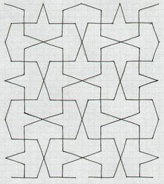 Islamic Art - Carreaux 4 Tile Patterns, Pattern Art, Textures Patterns, Quilting Patterns, Arabic Pattern, Geometry Pattern, Islamic Tiles, Islamic Art, Tessellation Art