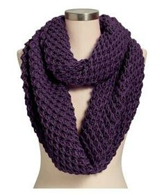 Old Navy Honeycomb-Stitch Infinity Scarf: Wish you could upgrade last year's coat? This aubergine textured acrylic loop does the job brilliantly.