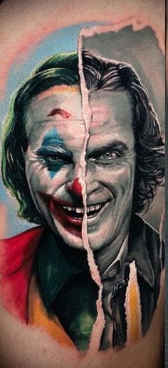 Initially a small character, he has now become a pop culture phenomenon portrayed by some of Hollywood's most exciting lead men.So who is this face who launched 1000 Joker tattoos?Let's explore The Joker and what a tattoo of him may symbolize. Calf Tattoos For Women, Girl Leg Tattoos, Back Tattoo Women, Cool Back Tattoos, Back Tattoos For Guys, Cool Forearm Tattoos, Joker Tattoos, Lead Men, Portrait Tattoos