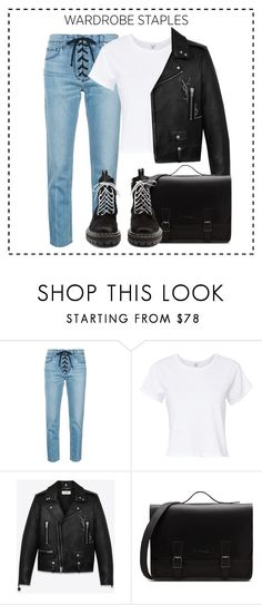 """""""my staples"""" by faye-valentine ❤ liked on Polyvore featuring A.L.C., RE/DONE, Yves Saint Laurent and Proenza Schouler"""