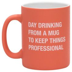 About Face Day Drinking Mug, 16 oz.