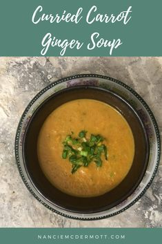 Curried Carrot Ginger Soup Retro Recipes, Vintage Recipes, Delicious Recipes, Vegetarian Recipes, Healthy Recipes, Best Comfort Food, Comfort Foods, 1950s Food, Carrot Ginger Soup