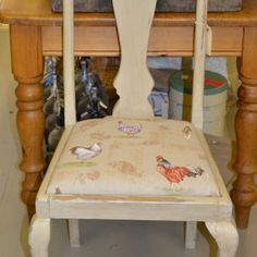 Annie Sloan Country Grey with Annie Sloan French Hens Fabric £59