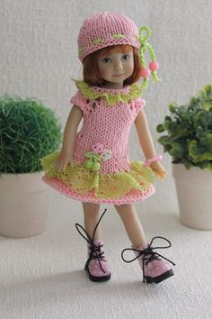 "dress and hat for Dianna Effner Heartstrings doll 8 "". 