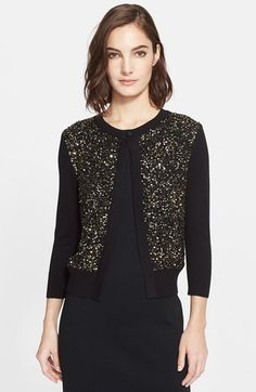 St. John Collection Silk & Cashmere Cardigan with Hand Beaded Panels available at #Nordstrom