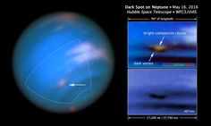 Hubble Confirms New Dark Spot on Neptune  Pancake-shaped clouds not only appe...