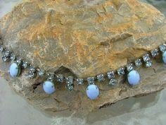 Vintage Pale Blue Rhinestones and Stones by vintagemarbles on Etsy, $25.00