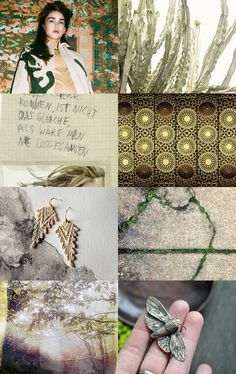 Gold Green mix by twomoons on Etsy--Pinned with TreasuryPin.com