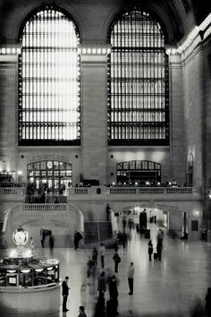 Black and white art photo of Grand Central terminal where my grandfather worked.  XO