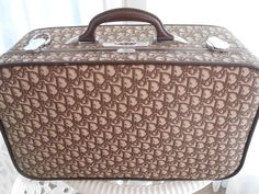CHRISTIAN DIOR Vintage Luggage, weekender/carry on/over-nighter Suitcase-lovely! #ChristianDior #weekenderovernightluggage