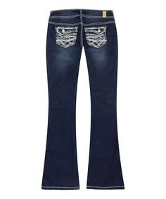 Another great find on #zulily! Series 31 Dark Blue Rose Short Flare Jeans by Series 31 #zulilyfinds