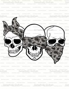 Sketch Tattoo Design, Skull Tattoo Design, See Tattoo, Cover Tattoo, Evil Tattoos, Skull Tattoos, Chicano Art Tattoos, Skull Sketch, Silver Skull Ring