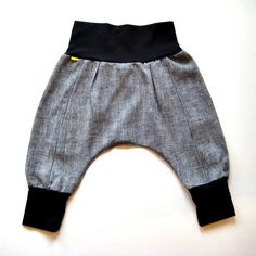 downtown aladdin pants - baby toddler - black white - modern boy girl harem