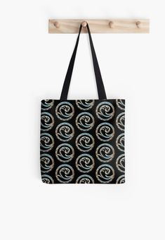 'Wave free your mind and go with the flow.' Tote Bag by NocturnDesign Large Bags, Small Bags, Hard Wear, Deep Sea, Medium Bags, Cotton Tote Bags, Jewelry Shop, Decorative Throw Pillows, Flow