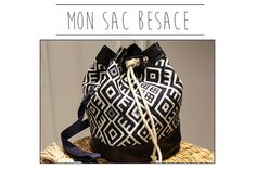 Besace Bag Tutorial - Mondial Fabrics - Before After DIY Gifts For Campers, Camping Gifts, Diy Sac Pochette, Mochila Crochet, Crochet Bags, Diy Bags Purses, Couture Sewing, Couture Bags, Sewing Clothes
