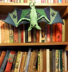 Wonky Patchwork: Hanging Bat Mini Quilt