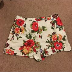 High waisted floral shorts Sabo Skirt floral high waisted shorts. Only worn once it was a little too big on me. Size 8 Sabo Skirt Shorts