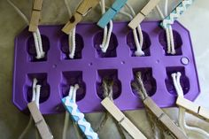 DIY Soap on a rope- also think it's super cool this lady has a blog about dollar store crafts! Fun!