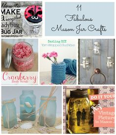 11 Fabulous Mason Jar Crafts