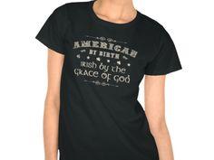 American by Birth, Style is Women's Hanes ComfortSoft T-Shirt, color is black Irish Design, Birth, American, Mens Tops, T Shirt, Color, Black, Style, Fashion
