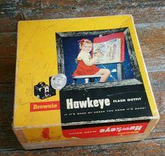 Vintage Brownie Hawkeye Flash Camera, Vintage Flash Camera, by EmptyNestVintage on Etsy