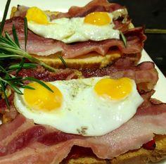 Tosta de huevo con bacon en la barra de Taberna del Alabardero #TabernadelAlabardero