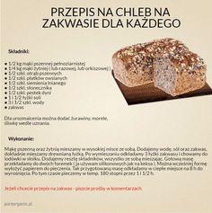 Na dzisiaj przygotowałam coś specjalnego :-) Poniżej znajdziecie przepis na pyszny, zdrowy, sprawdzony i domowy chleb... Spróbujcie bo na prawdę warto :-) #przepisnachleb #chleb #bread | Sklep ze zdrową żywnością, blog ze zdrowymi przepisami.