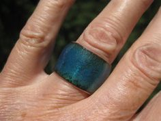 enameled ring from CharmdImSur