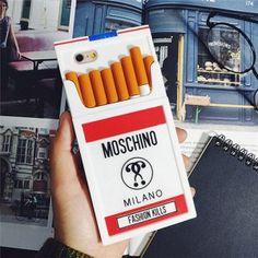 Spezielle und Cool!Moschino Zigaretten Handyhülle  für iPhone5/6/6 plus