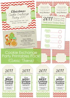 Christmas cookie exchange printable @Katie Friedman now you don't have to write your own labels :-)