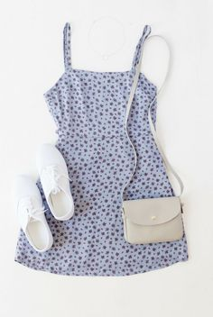 90s baby doll dress, light blue, purple, periwinkle, flowers, keds, white, light grey purse // The Copper Closet, fashion, boutique, clothing, affordable, style, woman's fashion, women fashion, online shopping, shopping, clothes, girly, boho, comfortable, cheap, trendy, outfit, outfit inspo, outfit inspiration, ideas, Jacksonville, Gainesville, Tallahassee Florida, photo shoot, look book