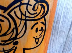 Orange Lady Wall Art by Eighty Acres Art by eightyacresart on Etsy, $58.00