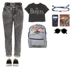 """too fool for school!!!!!!!!!!"" by aliaa-alasi ❤ liked on Polyvore featuring River Island, Converse, Venessa Arizaga and Casio"
