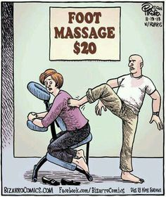 Not quite the massage she hoped to receive ‼️