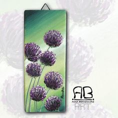 Sorprese in giardino  dipinto floreale allium e sfumature