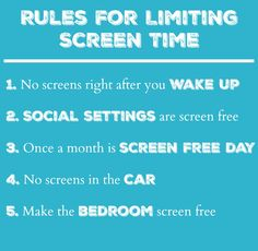 I'm pretty lax with screen time but I like these rules. :)