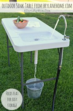 BrylaneHome Outdoor Sink Table review,  great for camping, outdoor cooking, canning or washing produce from your garden