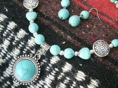 Western Jewelry Turquois Jewelry Cowgirl by HorsetailsBeadwork, $35.00