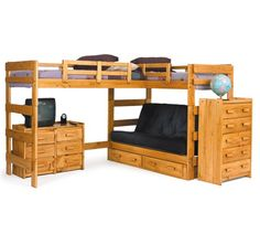queen bunk bed with futon   bunk bed with futon on bottom